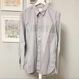 Gap Gray Stripe Button-Down Shirt XL